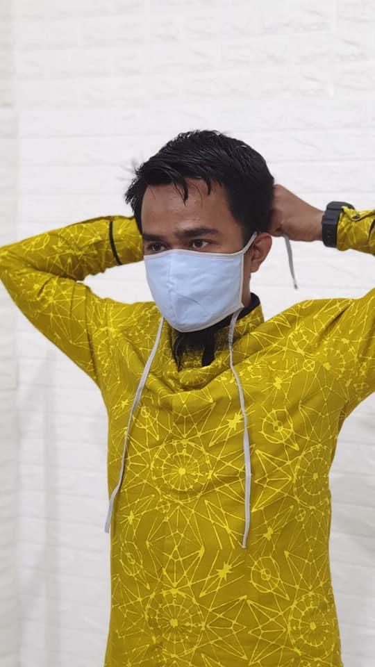 Konveksi Masker Tali Panjang Harga Grosir Rp3.500 per pcs