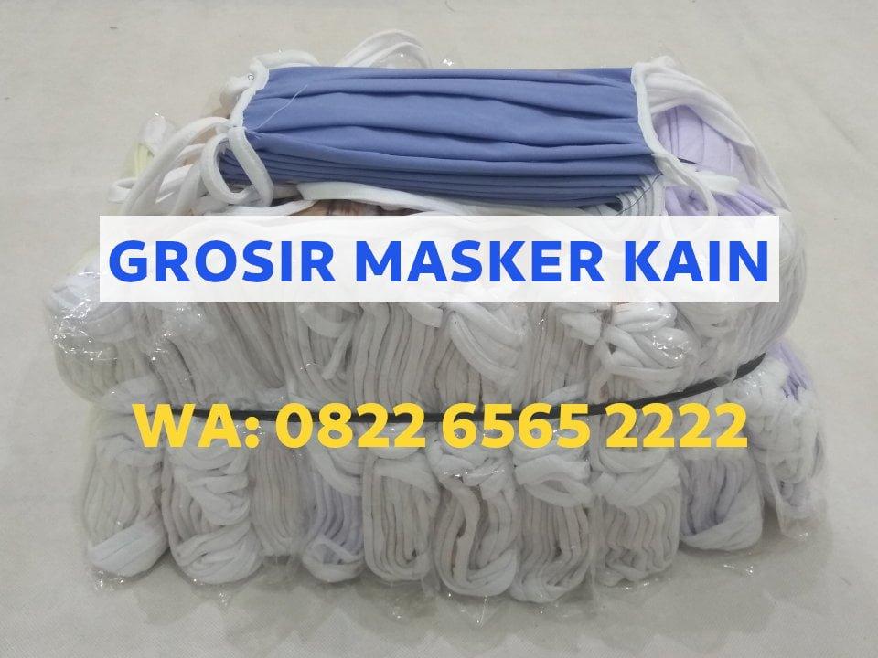 Grosir masker kain tali polos harga termurah